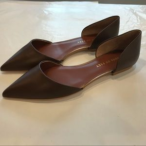 Shoes of Prey Brown leather Lima Flat